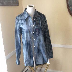 NWT Chaps Men's No Iron Dress Shirt In L